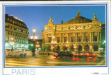 Franta - CP necirc.- Paris - Opera iluminata, Necirculata, Fotografie