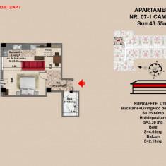 Garsoniera tip Studio, Brasov, Mall Coresi, 43.5 mp, 2017 - Garsoniera de vanzare, 44 mp, Parter