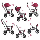 Tricicleta 6 in 1 cu scaun rotativ Swift Kinderkraft Purple KinderKraft