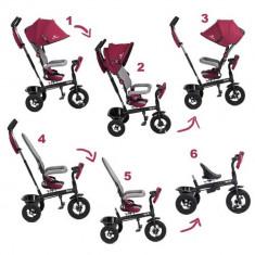 Tricicleta 6 in 1 cu scaun rotativ Swift Kinderkraft Purple KinderKraft - Tricicleta copii
