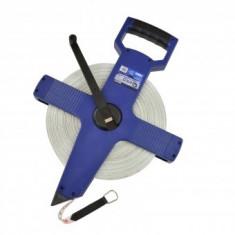 Ruleta geodezica 100 m, Geko G01477, banda din fibra de sticla - Ruleta masura