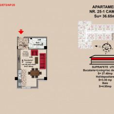 Garsoniera, Brasov, 2017, Mall Coresi, 35.65mp - Garsoniera de vanzare, 36 mp, Parter