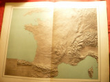 Harta Relief a Frantei si imprejurimi -1906 -autori F.Schrader, F.Prudent, foto