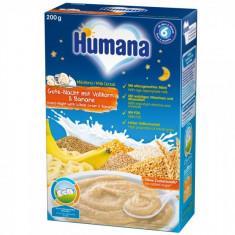 Cereale Humana noapte buna cu fulgi de ovaz si banane de la 6 luni 200 g - Cereale copii