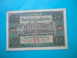 HOPCT GERMANIA 10 MARK 1920 SERIA H  [ 3  ]