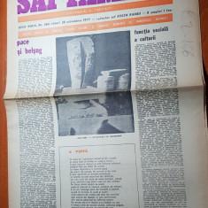 """ziarul saptamana 28 octombrie 1977-art.""""pace si belsug """" de corneliu vadim tudor"""