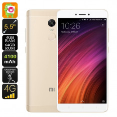 Xiaomi Redmi Note 4X Android Phone (Gold)