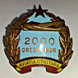 INSIGNA AVIATIE AVIATIA UTILITARA 2000 ORE DE ZBOR RPR PILOT IMPECABILA