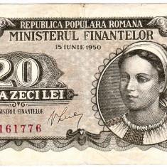 Bancnota 20 lei 1950 - Bancnota romaneasca