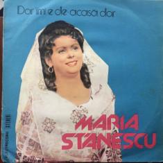 Maria Stanescu dor imi e de acasa dor disc vinyl lp Muzica Populara electrecord folclor, VINIL