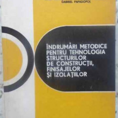 Indrumari Metodice Pentru Tehnologia Structurilor De Construc - I. Neacsu, I. Nicoara, G. Papadopol, 411610 - Carti Constructii