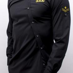 Camasa asimetrica Army - camasa army asimetrica camasa slim fit  cod 164