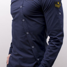 Camasa asimetrica Army - camasa army asimetrica camasa slim fit  cod 165, XL, XXL, Maneca lunga, Din imagine