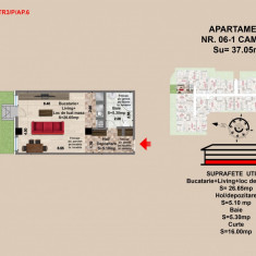 Garsoniera, Brasov, Mall Coresi, 2017, 37.06 mp - Garsoniera de vanzare, Parter