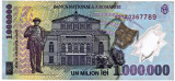 Bancnota 1000000 lei 2003 polimer