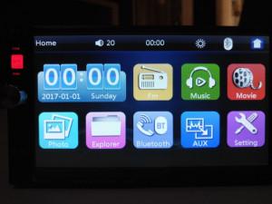 Casetofon Dvd Mp3 Auto 7 Bluetooth  Card USB 2DIN  Navigatie prin MirrorLink