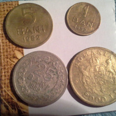 1, 5, 25 BANI 1952/6 - Moneda Romania