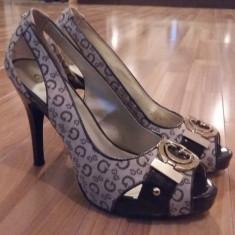 Pantofi Guess - Pantof dama Guess, Culoare: Nude, Marime: 37 2/3, Cu toc