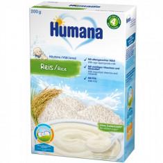 Cereale Humana cu fulgi de orez de la 4 luni 200 g - Cereale copii