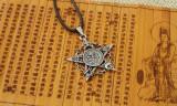 PENTAGRAMA Pandantiv amuleta protectoare  craniu masonic