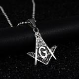 Pandantiv Cu Simboluri Masonice 316L