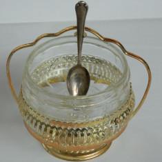 Zaharnita cu lingurita argintata - Bol sticla