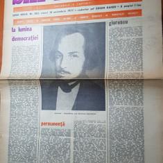 Ziarul saptamana 18 noiembrie 1977-la lumina democratiei de corneliu vadim tudor