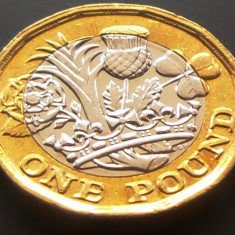 Moneda 1 Pound (Lira Sterlina) - ANGLIA, anul 2016 *cod 4193 UNC RIDURI REGINA, Europa