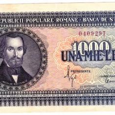 Bancnota 1000 lei 1950 XF Nicolae Balcescu - Bancnota romaneasca