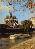 Franta - CP necirc.-  Paris - Notre-Dame, raul Sena si Quai de l'ile Saint Louis