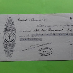Olt Draganesti Bilet la ordin  1927