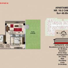 Ap. 2 camere, Brasov, Mall Coresi, 2017, 49.36 mp - Apartament de vanzare, Numar camere: 2, Parter