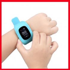 Ceas inteligent monitorizare si localizare copii - smartwatch copii Q50, Aluminiu, Android Wear