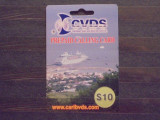 ANTILELE ENGLEZE- PREPAID CALLING CARD, CVDS [CARIBBEAN VOICE AND DATA SERVICE]