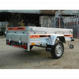 Remorca auto 750kg Agro basculabil 205x122cm-suspensie cu arcuri, RAR Efectuat