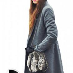 BL206-18 Palton cu maneci lungi si nasturi in fata - Palton dama, Marime: M
