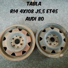 2 Jante Tabla R14 4x108 J5.5 ET45 - Janta tabla, Numar prezoane: 4