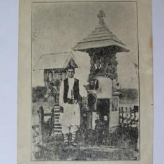 Carte postala foto cu ciobanul Petrache Lupu-Sfantul de la Maglavit 1935
