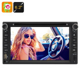 2 DIN 6.2 Inch Touch Screen Car DVD Player - Pachete car audio auto