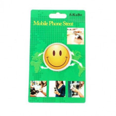 Suport Telefon iPhone Samsung Nokia HTC Stand Finger Grip Universal Smiling Face - Suport auto GPS