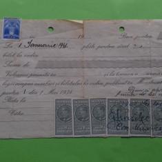 Arges Musetesti Bilet la ordin cu timbru  - 1941