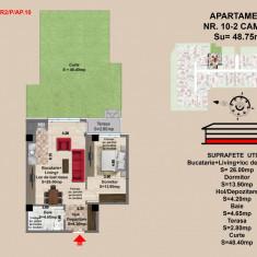 Ap. 2 camere, Brasov, Mall Coresi, 2017, 49.15 mp - Apartament de vanzare, Numar camere: 2, Parter