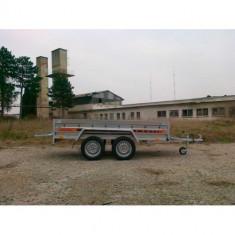 Remorca auto 750kg Agro basculabil cu punte tandem 233x132cm, RAR Efectuat