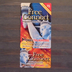USA - FREE CONNECT PREPAID PHONE CARD - 5$- CLUB MARINARI . - Cartela telefonica straina