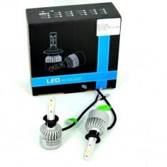Set Bec H1 cu LED S2 chip led Korea Putere: 40W - 4800 lumen 6000k 12-24v - Led auto, Universal