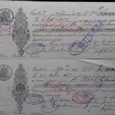 Olt Corabia Bilet la ordin cu timbru si apostila 1927 2 buc