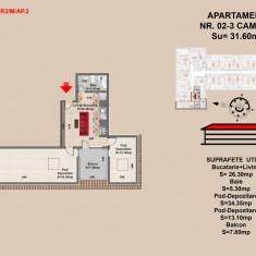 Apartament 2 camere Brasov, zona Tractorul - Apartament de vanzare, 69 mp, Numar camere: 2, An constructie: 2017, Parter