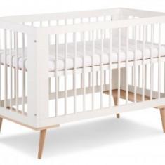Patut pentru copii din Lemn masiv Klups Sofie Alb - Patut lemn pentru bebelusi