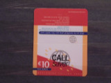 UK - CALL SAVER- WORLDWIDE CALLING CARD- 10 EURO.
