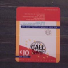 UK - CALL SAVER- WORLDWIDE CALLING CARD- 10 EURO. - Cartela telefonica straina
